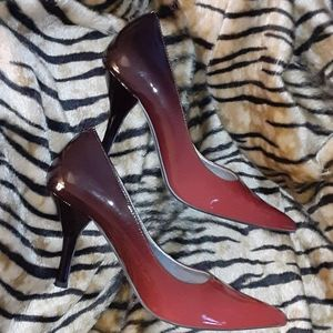 Charlotte Russe patent ombre pointed toe pumps